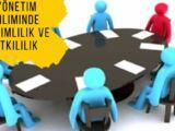 Yönetim biliminde verimlilik ve etkililik