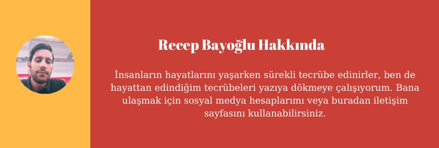 Recep Bayoğlu Hakkında