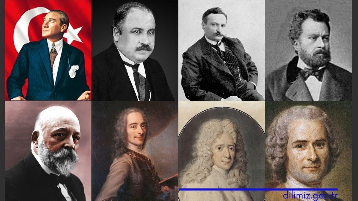 Mustafa Kemal'i etkileyen yabancı / Türk düşünürler ve yazarlar