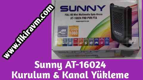 Sunny AT-16024 Full HD Mini Uydu Alıcısı Kurulum